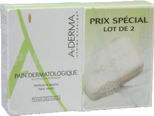 Aderma pain dermatologique sans savon lot de 2 x 100 g